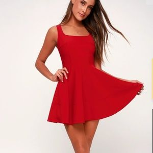 Lulus women's red sleeveless dress S